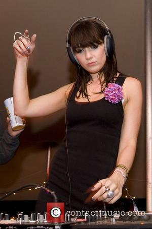 Daisy Lowe DJ's in the Sunday Times Style tent at Latitude, on the Henham Estate in Suffolk Suffolk, England -...