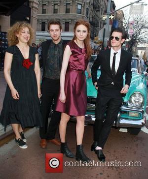 Alex Kingston, Karen Gillan and Matt Smith