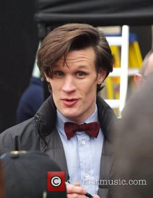 Matt Smith signs autographs for fans as he takes a break from filming Doctor Who Penarth, Wales - 12.03.11