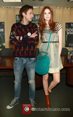 Arthur Darvill and Karen Gillan 'Doctor Who: The Complete Fifth Series' signing session at Barnes & Noble New York City,...