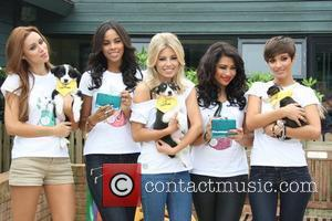 Una Healy, Rochelle Wiseman, Mollie King, Vanessa White, and Frankie Sandford of The Saturdays Nintendo and The Dogs Trust launch...