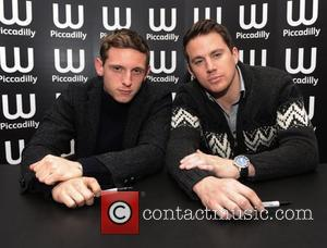 Jamie Bell and Channing Tatum  The stars of 'The Eagle' sign copies of Rosemary Sutcliff's award-winning novel upon which...
