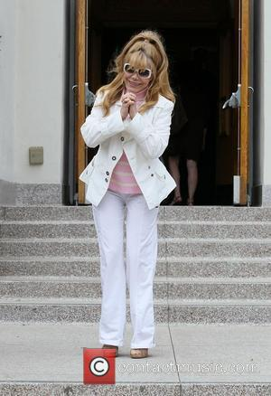 Charo arriving at the Good Shepherd Catholic Church in Beverly Hills to attend the Easter Sunday Service Los Angeles, California...