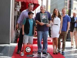 Rico Rodriguez, Eric Stonestreet, Ed O'Neill, Sofia Vergara, Jesse Tyler Ferguson Ed O'Neill is honoured with a star on the...