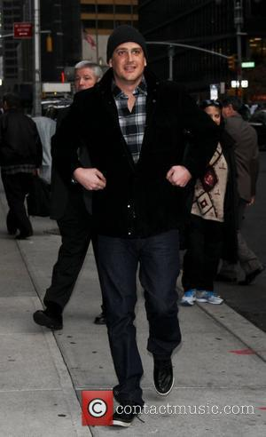 Jason Segal Celebrities arriving at the Ed Sullivan Theater for 'The Late Show with David Letterman' New York Cty, USA...