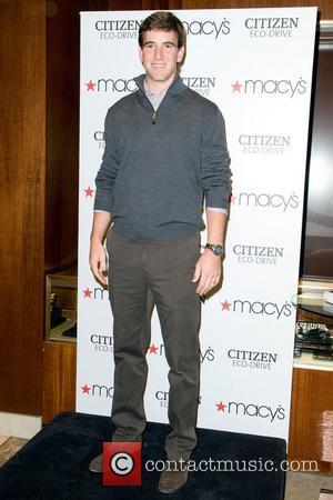Star Quarterback Eli Manning launches his limited edition Citizen Eco-Drive Perpetual Chrono A-T  watch at Macy's Herald Square New...