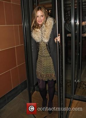 Trinny Woodall leaving C London restaurant London, England - 23.11.11