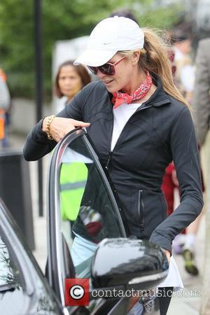 Elle Macpherson after dropping her children off at school London, England - 17.06.11