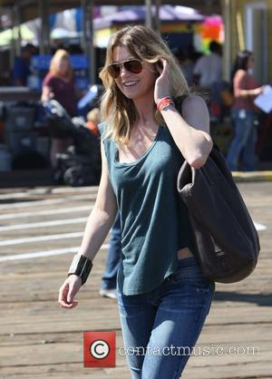 Ellen Pompeo and Santa Monica Pier