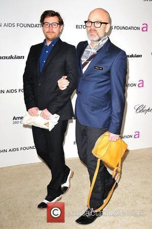 Michael Stipe (right) 19th Annual Elton John AIDS Foundation Academy Awards Viewing Party held at the Pacific Design Center -...
