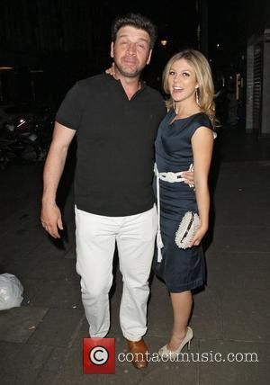 A worse for wear Nick Knowles and girlfriend Jessica Morris leaving the Embassy Club where Mark Fuller was hosting a...
