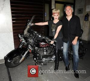 Katie Waissel on a Harley Davidson outside of Embassy Club London, England - 18.05.11