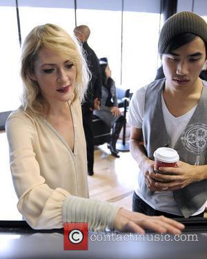 Emily Haines of band Metric and Andrew Huang creator of GHOST,  unveil American Express Canada's Room For Thought winning...