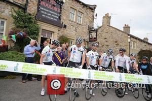 Team Emmerdale  Photocall for the Emmerdale to Eastenders Charity Bike Ride at Emmerdale village Yorkshire, England - 19.08.11