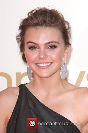 Aimee Teegarden,  at the 63rd Primetime Emmy Awards, held at Nokia Theatre L.A. LIVE - Arrivals Los Angeles, California...