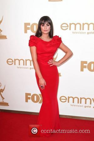 Lea Michelle, at the 63rd Primetime Emmy Awards, held at Nokia Theatre L.A. LIVE - Arrivals Los Angeles, California -...