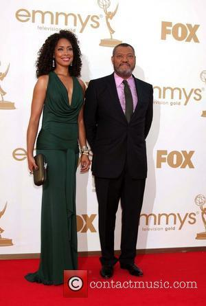 Gina Torres, Laurence Fishburne  The 63rd Primetime Emmy Awards held at the Nokia Theater LA LIVE - Arrivals Los...