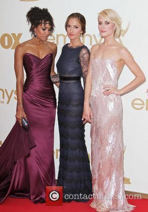 Annie Ilonzeh, Minka Kelly, Rachael Taylor The 63rd Primetime Emmy Awards held at the Nokia Theater LA LIVE - Arrivals...