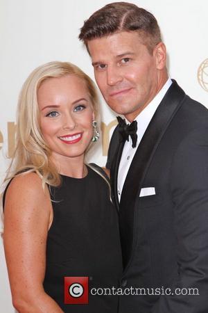 David Boreanaz and Jamie Bergman The 63rd Primetime Emmy Awards held at the Nokia Theater LA LIVE - Arrivals Los...