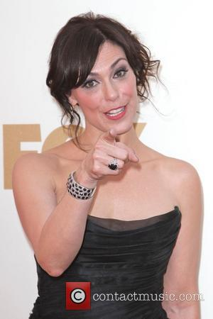Michelle Forbes  The 63rd Primetime Emmy Awards held at the Nokia Theater - Arrivals Los Angeles, California - 18.09.11