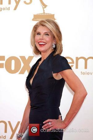 Christine Baranski,  at the 63rd Primetime Emmy Awards, held at Nokia Theatre L.A. LIVE - Arrivals Los Angeles, California...