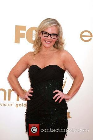Rachael Harris,  at the 63rd Primetime Emmy Awards, held at Nokia Theatre L.A. LIVE - Arrivals Los Angeles, California...