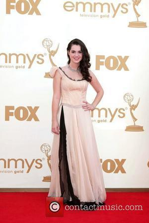 Vanessa Marano,  at the 63rd Primetime Emmy Awards, held at Nokia Theatre L.A. LIVE - Arrivals Los Angeles, California...
