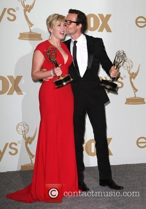 Kate Winslet and Guy Pearce  The 63rd Primetime Emmy Awards held at the Nokia Theater LA LIVE - Press...