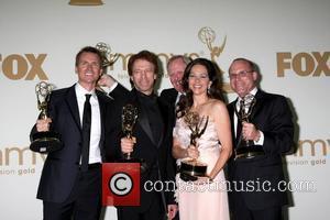 Phil Keoghan, Jerry Bruckheimer, Bertram van Munster, Elise Doganieri The 63rd Primetime Emmy Awards held at the Nokia Theater LA...