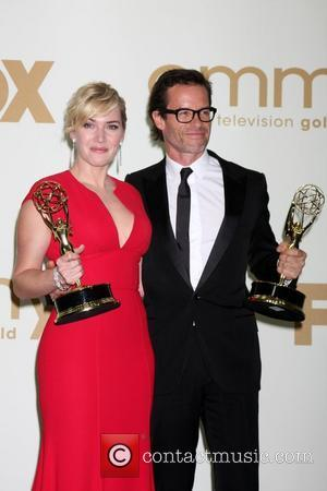 Kate Winslet and Guy Pearce The 63rd Primetime Emmy Awards held at the Nokia Theater LA LIVE - Press Room...