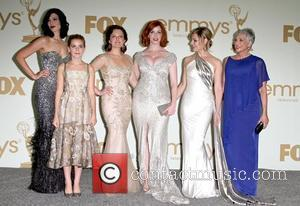 Jessica Pare, Kiernan Shipka, Elisabeth Moss, Christina Hendricks, Cara Buono and Randee Heller The 63rd Primetime Emmy Awards held at...