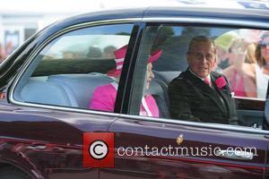 Queen Elizabeth II and Duke of Edinburgh depart Epsom Racecourse for The Derby Stakes  Surrey, England - 04.06.11