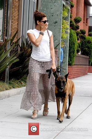 Eva Mendes  walking her dog in Beverly Hills Los Angeles, California – 10.06.11