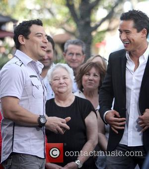 Carlos Mencia and Mario Lopez