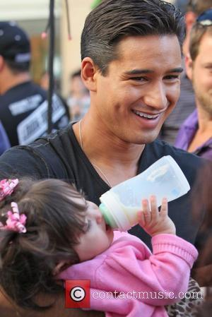 Mario Lopez, daughter Gia Lopez Mario Lopez at The Grove to film an appearance for the entertainment television news programme...