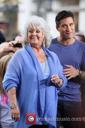 Paula Deen at The Grove to film an appearance for the entertainment television news programme 'Extra' Los Angeles, California -...