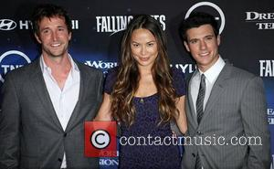 Noah Wyle (L), Moon Bloodgood, Drew Roy  The Premiere of TNT And Dreamworks' 'Falling Skies' - Arrivals West Hollywood,...