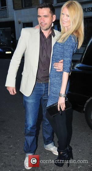 Roland Mouret and Claudia Schiffer arriving at the Fashion Fringe 2011 finalists announcement party at the Sanderson Hotel. London, England...