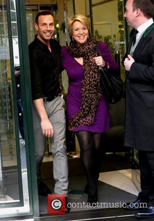 Jason Gardiner and Fern Britton leaving The Ivy restaurant London, England – 06.04.11