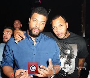 DeRay Davis and Flo Rida Flo Rida Game 2 after party at Mansion nightclub Miami, Florida - 02.06.11