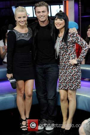 Julianne Hough, Kenny Wormald and host Lauren Toyora  appears on Much Music's New.Music.Live promoting their upcoming movie 'Footloose'....