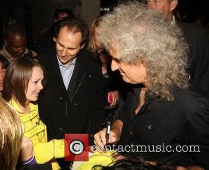 Brian May and a fan Freddie For A Day held at The Savoy - Arrivals. London, England - 05.09.11
