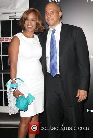Gayle King and Mayor Cory Booker