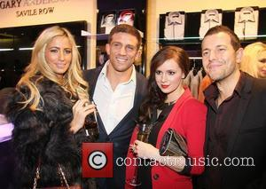 Alex Reid, Chantelle Houghton, Kerry-Lucy Taylor and Lee Latchford-Evans Gary Anderson launch party on Saville Row London, England - 24.11.11