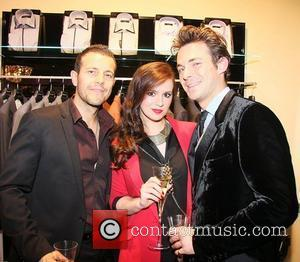 Kerry-Lucy Taylor, Lee Latchford-Evans and Jules Knight Jules Gary Anderson launch party on Saville Row London, England - 24.11.11