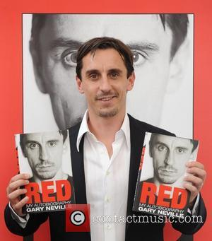 Gary Neville  signs copies of his autobiography 'Red' at Waterstones, Canary Wharf London, England - 01.09.11