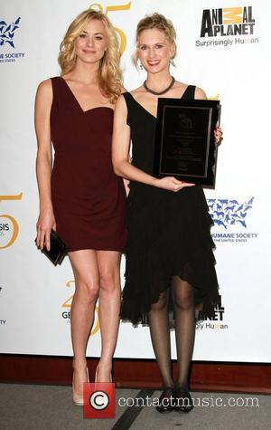 Yvonne Strahovski and Anna Schecter 25th Anniversary Genesis Awards held at The Hyatt Regency Century Plaza Hotel - Press Room...