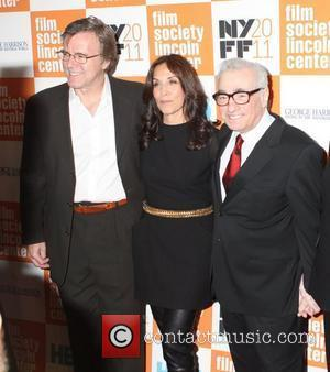 Nigel Sinclair, Martin Scorsese and Olivia Harrison