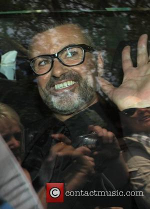 George Michael after his interview with Piers Morgan during preparations for the Royal Wedding of Prince William and Kate Middleton...