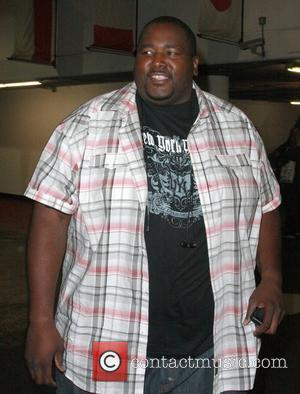 Quinton Aaron leaves 'Get Lucky for Lupus LA!' poker tournament at the Petersen Automotive Museum Los Angeles, California - 22.09.11